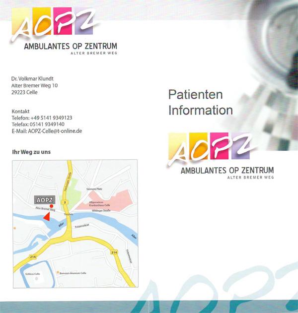 Patienteninformation AOPZ